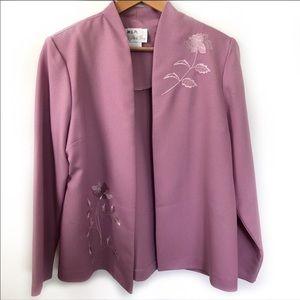 Vintage Pride & Joy embroidered pink blazer 14